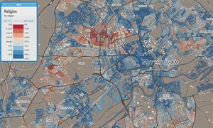 Nottingham religion map