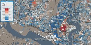 Southampton religion map
