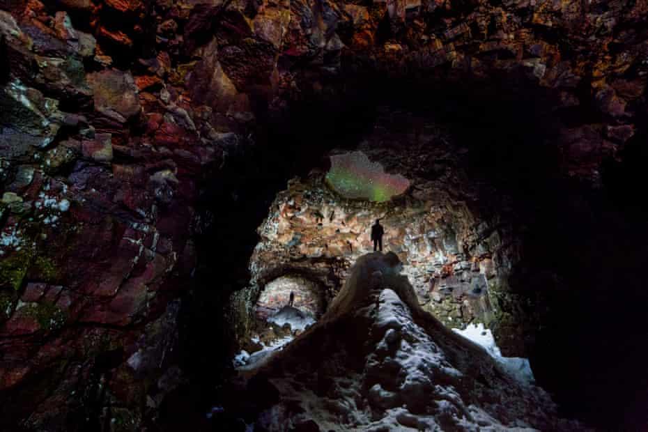 Astronomy Photographer of the Year 2014: Cave With Aurora Skylight by Ingólfur Bjargmundsson (Iceland)