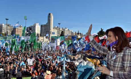 Argentine President Cristina Fernandez de Kirchner in Buenos Aires
