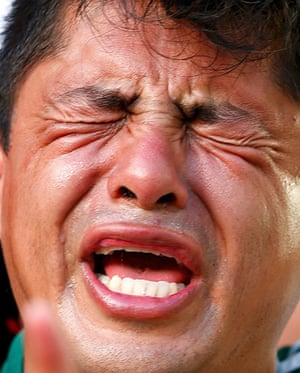Agony and ecstasy: A Mexico supporter reacts