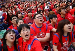 Agony and ecstasy: South Korean soccer fans