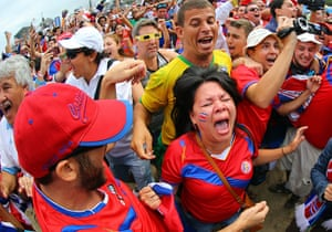 Agony and ecstasy: World Cup Fans Gather To Watch Matches In Rio
