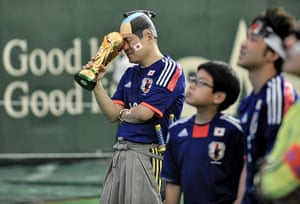 Agony and ecstasy: Japanese Fans Watch Japan v Cote d'Ivoire - 2014 FIFA World Cup Game