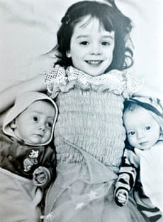 Denise Turner's daughter Amy with her twin brothers