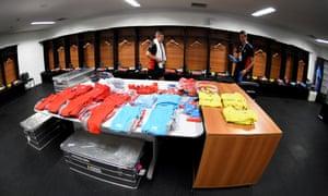 Belgium's dressing room