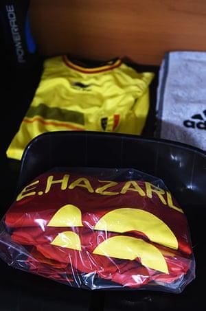 belgium v usa: Eden Hazard