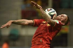 belgium v usa: Belgium's defender Toby Alderweireld show off his skills