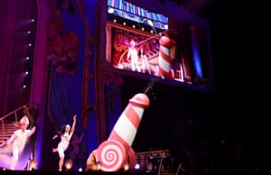 Dancers perform on the opening night of Monty Python Live (mostly). Photograph: Dave J Hogan/Getty Images