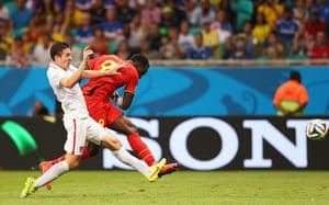 belgium v usa: Lukaku scores