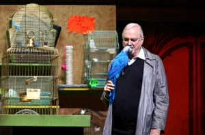 John Cleese is, as he often points out on twitter, much more alive than this parrot.