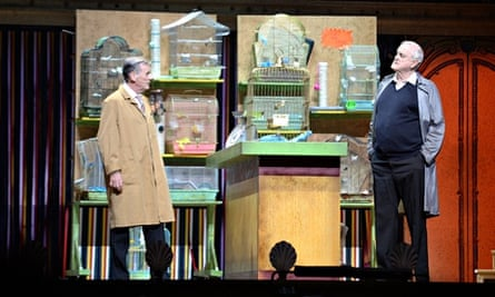 Michael Palin and John Cleese perform on the opening night of Monty Python Live (Mostly)