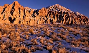 Cathedral Gorge state park Nevada Rock Formations USA America United States Winter snow Landscape