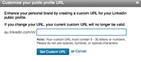 Customise your URL