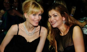 Claudia Schiffer and Gulnara Karimova at the Cannes film festival in 2009