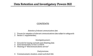 Data retention bill