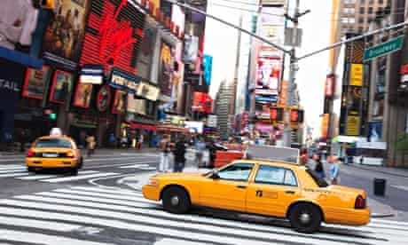 Taxis in Times Square, New York City. Photograph: Alamy
