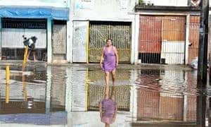 Flooding in Sao Paulo Brazil
