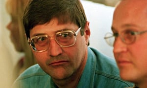 Eugene de Kock at a Truth and Reconciliation Commission hearing in 1998