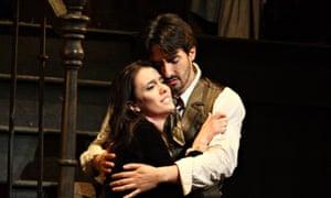 Ermonela Jaho and Charles Castronovo in John Copley's revival of La Bohème