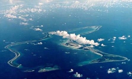 Diego Garcia, site of US military base in the Indian Ocean leased from Britain