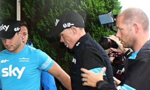 Britain's Christopher Froome injured arr