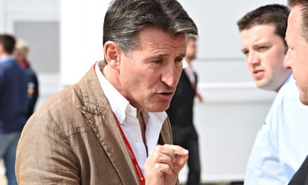 Lord Coe at a Formula One event on 6 July 2014.