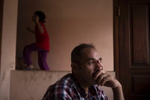 Asylum seeker Aboodi Alkhald from Iran spends a good percentage of his time during the day thinking about the concerns he has for his children's future.
