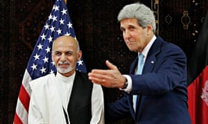 John Kerry and Ashraf Ghani