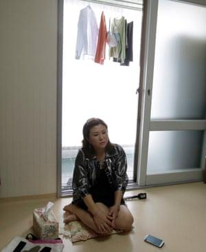 Won Jeong-hwa in her apartment in Gunpo.