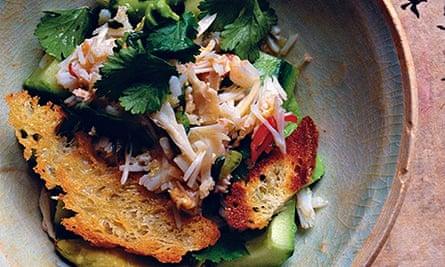 Nigel Slater's salad of crab, avocado and lime