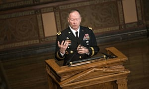 General Keith Alexander, NSA director at the time the Guardian destroyed files from Edward Snowden
