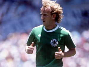 Andreas Brehme in the 1986 final