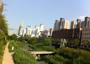 Cheonggyecheon stream.