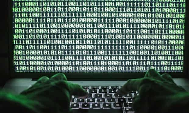 Binary code on a laptop screen - for NSA (National Security Agency) story.  Photograph by Felix Clay 10things1107