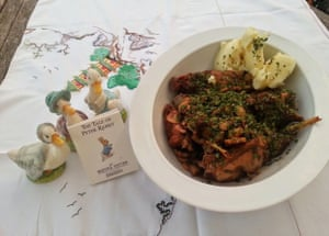 'English Rabbit and Port Stew: The England team's debut World Cup match was set in the rainforest. This dish may remind them of home.'