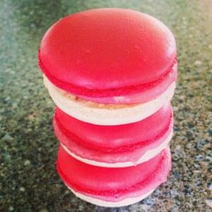 Strawberries & Cream England Macarons