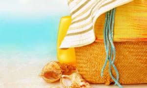 Sun accessories on a beach