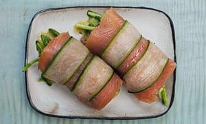 Salmon in wasabi mayonnaise