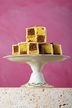 Mary Berry's coffee and walnut Battenburg