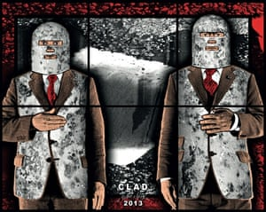 Clad, 2013, by Gilbert & George.