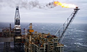 North sea oil and gas rig