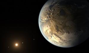 An artist's impression of exoplanet Kepler-186f