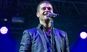 Robin Thicke at the Wireless festival in London