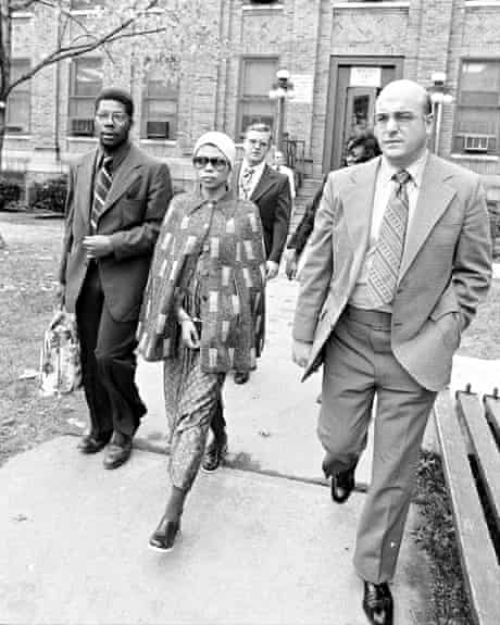 Shakur is escorted from Middlesex county jail, November 1973.