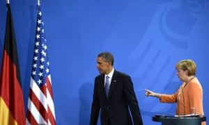Obama and Merkel in 2013.