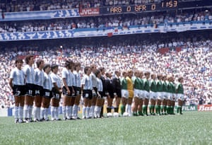 1986 world cup final: Teams Line up
