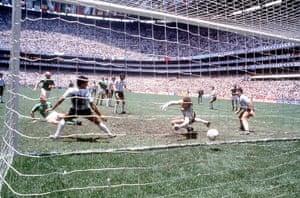 1986 world cup final: Germany score