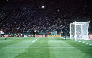 1990 world cup final: Penalty scored past goalkeeper Sergio Goycochea