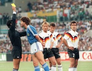 1990 world cup final: Gustavo Dezotti booked